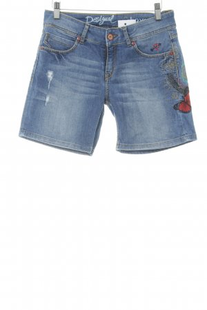 Desigual Jeansshorts mehrfarbig Casual-Look