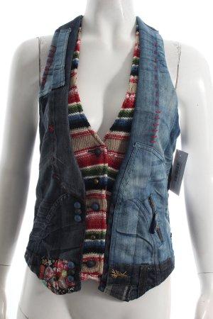 Desigual Jeansweste mehrfarbig extravaganter Stil