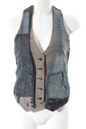 Desigual Jeansweste mehrfarbig Street-Fashion-Look