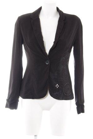 Desigual Jersey Blazer negro estampado floral look casual