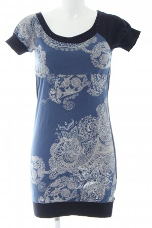 Desigual Jersey Dress blue abstract pattern casual look