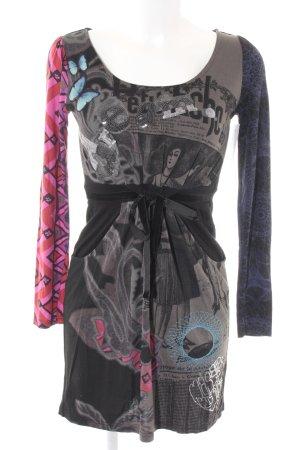 Desigual Jerseykleid abstraktes Muster extravaganter Stil