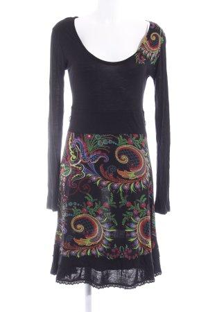 Desigual Vestido de tela de jersey estampado floral estilo extravagante