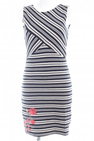 Desigual Jerseykleid creme-dunkelblau Blumenmuster Business-Look