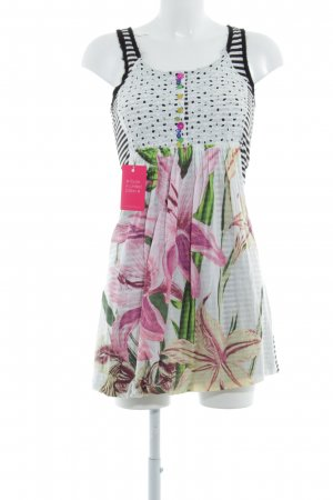 Desigual Jerseykleid florales Muster Patchwork-Optik