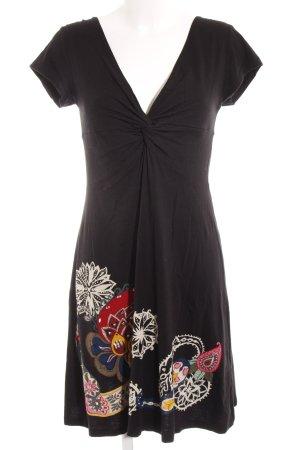 Desigual Jersey Dress black flower pattern casual look
