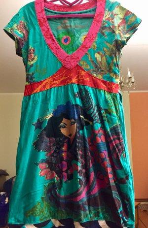 Desigual vestido de globo multicolor
