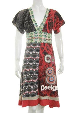 Desigual Kleid abstraktes Muster Beach-Look