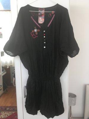Desigual Vestido tipo túnica negro Algodón
