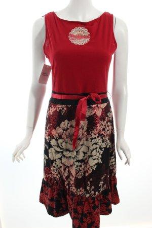 Desigual Kleid florales Muster Logoprint