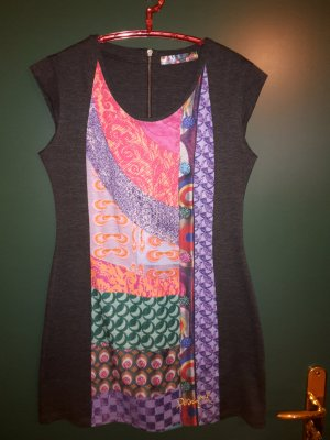 Desigual Kleid Gr. XL in grau/bunt