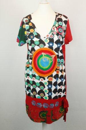 Desigual Kleid Minikleid Jerseykleid Gr. XL bunt Hippie ethno
