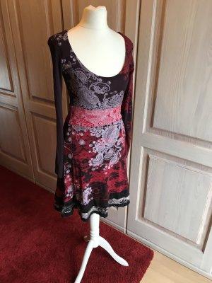 Desigual Kleid rot schwarz lila S