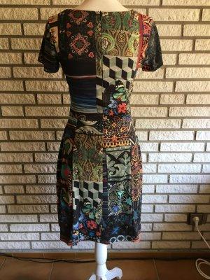 Desigual Kleid schwarz bunt