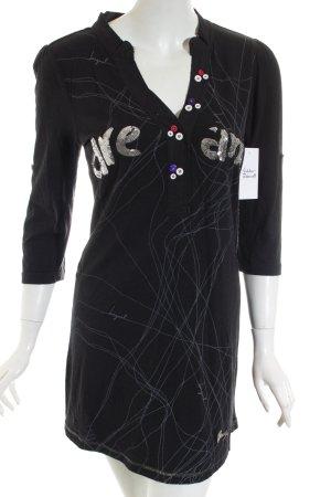 Desigual Kleid schwarz-silberfarben sportlicher Stil