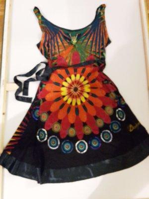 Desigual Vestido tipo túnica multicolor Algodón