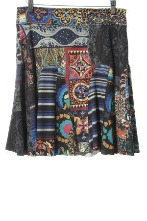 Desigual Falda de cuero de imitación estampado con diseño abstracto