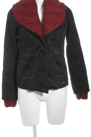 Desigual Short Blazer black-dark red floral pattern extravagant style