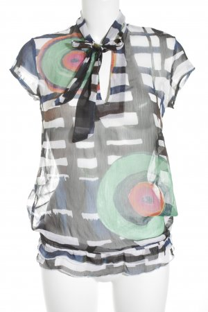 Desigual Kurzarm-Bluse abstrakter Druck Casual-Look