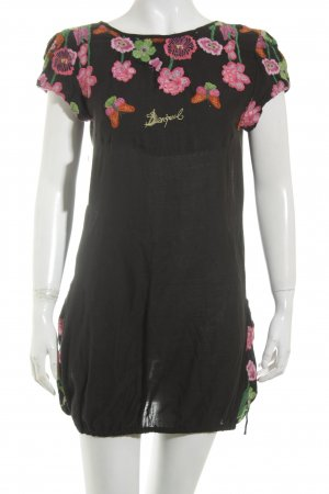 Desigual Kurzarm-Bluse Blumenmuster Casual-Look