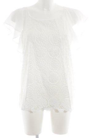 Desigual Kurzarm-Bluse weiß Elegant