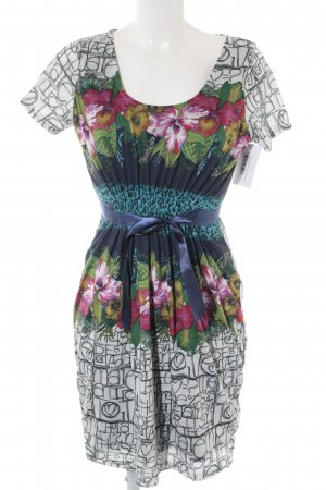 Desigual Kurzarmkleid Allover-Druck Casual-Look