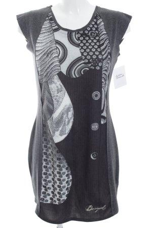 Desigual Kurzarmkleid grau-weiß Street-Fashion-Look