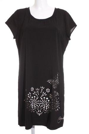 Desigual Kurzarmkleid schwarz-weiß extravaganter Stil