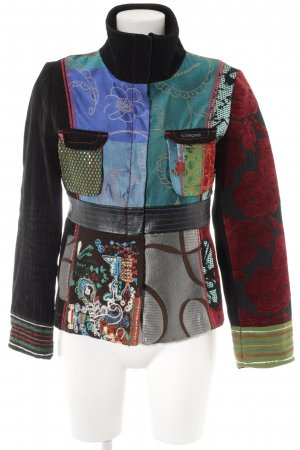 Desigual Short Jacket abstract pattern extravagant style