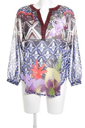 Desigual Langarm-Bluse abstraktes Muster extravaganter Stil