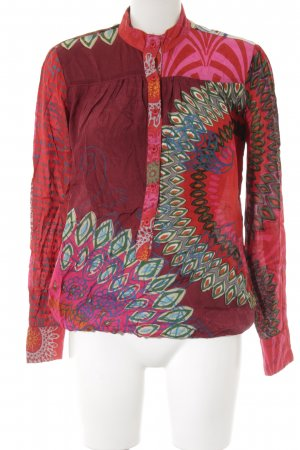 Desigual Langarm-Bluse abstraktes Muster Hippie-Look