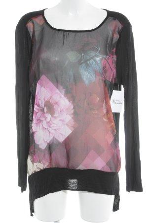 Desigual Langarm-Bluse abstraktes Muster Street-Fashion-Look