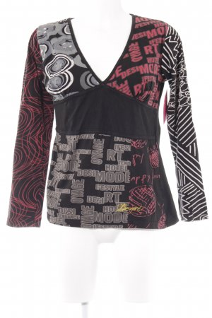 Desigual Langarm-Bluse Allover-Druck Casual-Look