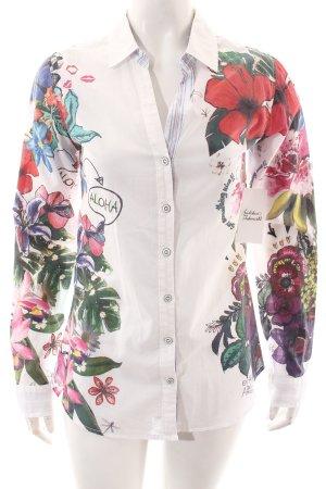 Desigual Langarm-Bluse Blumenmuster extravaganter Stil