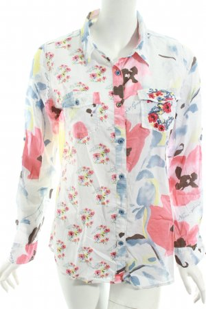 Desigual Langarm-Bluse florales Muster Hippie-Look