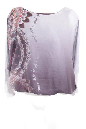 Desigual Langarm-Bluse Motivdruck extravaganter Stil