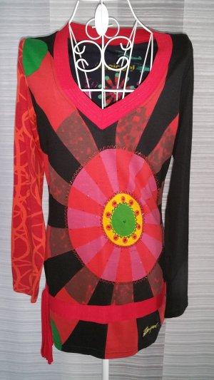 Desigual Langarm Shirt schwarz/rot