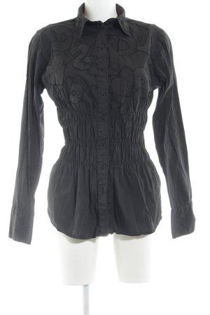 Desigual Langarmhemd schwarz extravaganter Stil