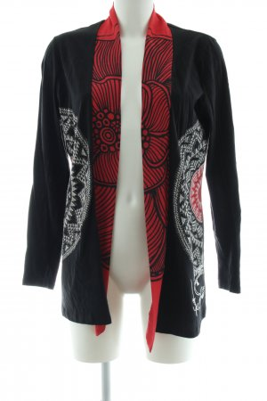 Desigual Lange Jacke abstraktes Muster Casual-Look