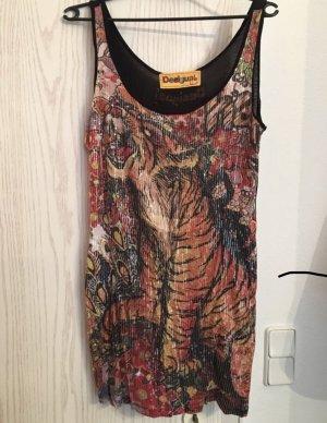 Desigual langes Top/ kurzes Kleid mit Pailetten