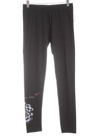Desigual Legging zwart bloemenprint romantische stijl