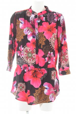 Desigual Long-Bluse florales Muster Street-Fashion-Look