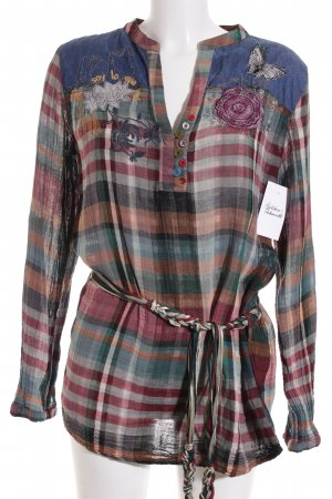 Desigual Long-Bluse Karomuster Casual-Look