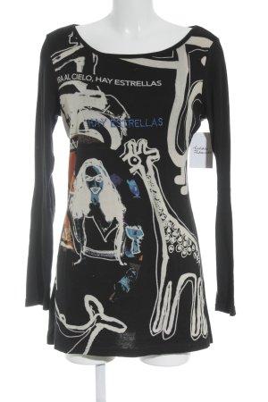 Desigual Longpullover Schriftzug gestickt Street-Fashion-Look