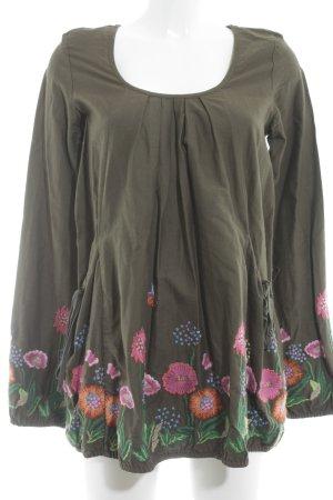 Desigual Camisa larga estampado floral estilo romántico