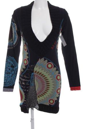 Desigual Longshirt schwarz-himmelblau Casual-Look