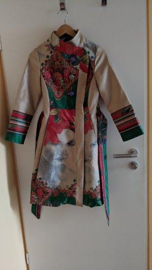 Desigual Abrigo corto multicolor tejido mezclado