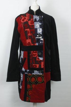 Desigual Mantel Gr. 46 schwarz rot