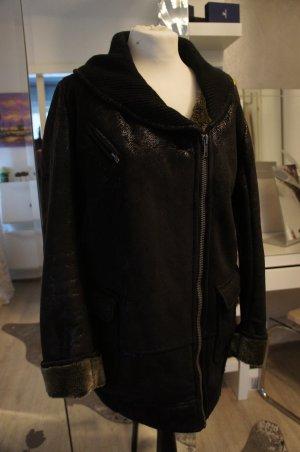 DESIGUAL Mantel Jacke Lammfell Größe 42 Kunstfell