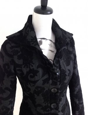 DESIGUAL Mantel Jacket Negro Brokat Stoff schwarz – 36
